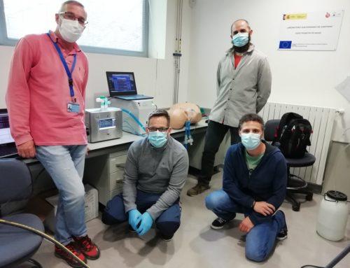 Prueba del ventilador MVM con un pulmón artificial ASL5000
